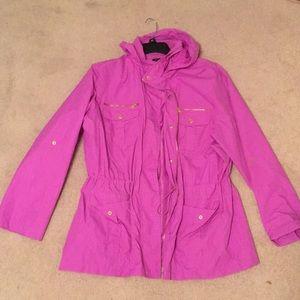 Fuschia Style & Co Rain Jacket - XL